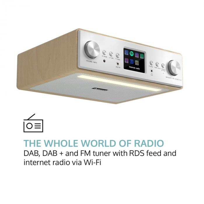"Connect Soundchef Kitchen Radio with Tablet Holder DAB + FM 2x3"" Boxes Beech"