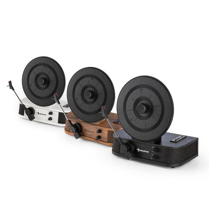Verticalo S Designerski pionowy gramofon retro pionowy talerz USB czarny