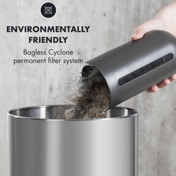 oneConcept Primo aspirador batería filtro lavable 120W