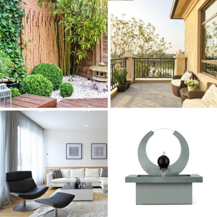eterna fontaine d corative de jardin ou int rieur pompe 12w c ble 10m electronic star fr. Black Bedroom Furniture Sets. Home Design Ideas