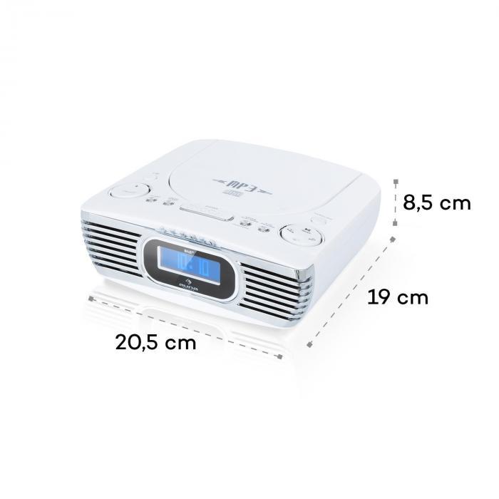Dreamee DAB+ radiowekker CD speler DAB+/FM CD-R/RW/MP3 AUX retro wit