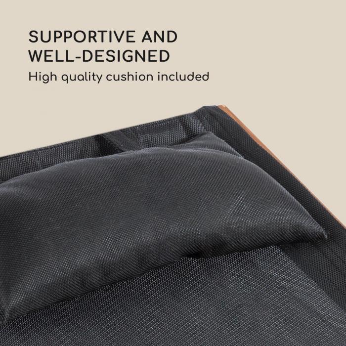 Panamera Sdraio con Parasole Rete Comfort Carico: 150kg nero