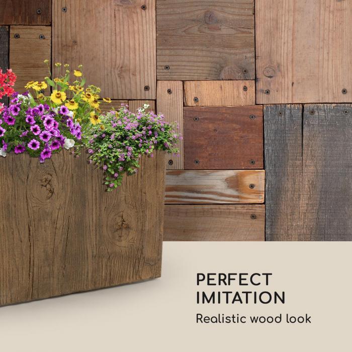 Timberflor bloempot 70 x 60 x 40 cm GVK in-/outdoor bruin