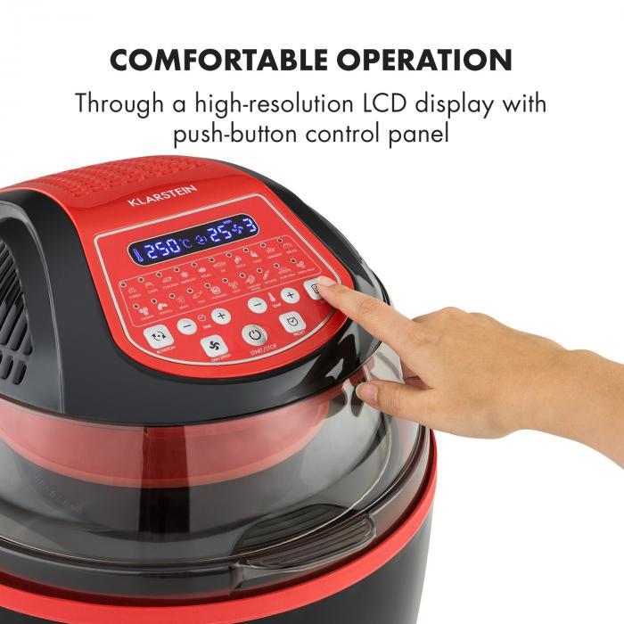 Friggitrice ad aria calda VitAir Turbo Smart, 1400 W, 10l, 20 Programmi, rossa