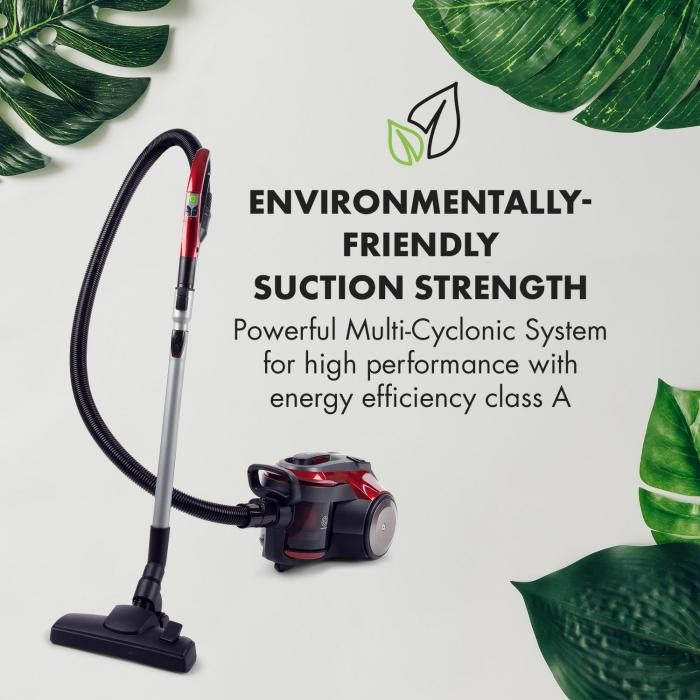 Clean King Ergo Cyclone Vacuum Cleaner 800W Bagless HEPA13 EEC-A Grey / Red
