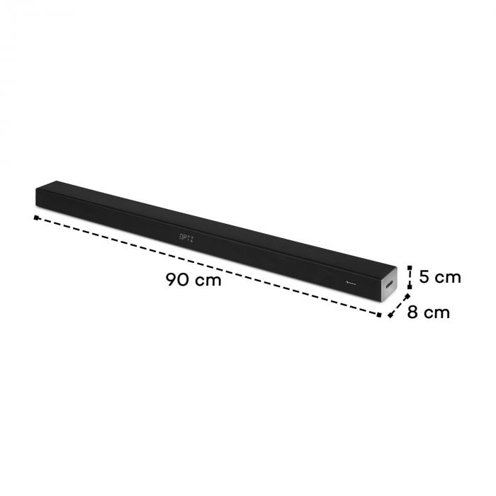 Areal Bar 355 soundbar, 80 W, bluetooth, USB, HDMI, optinen, koaksiaalinen, AUX, musta