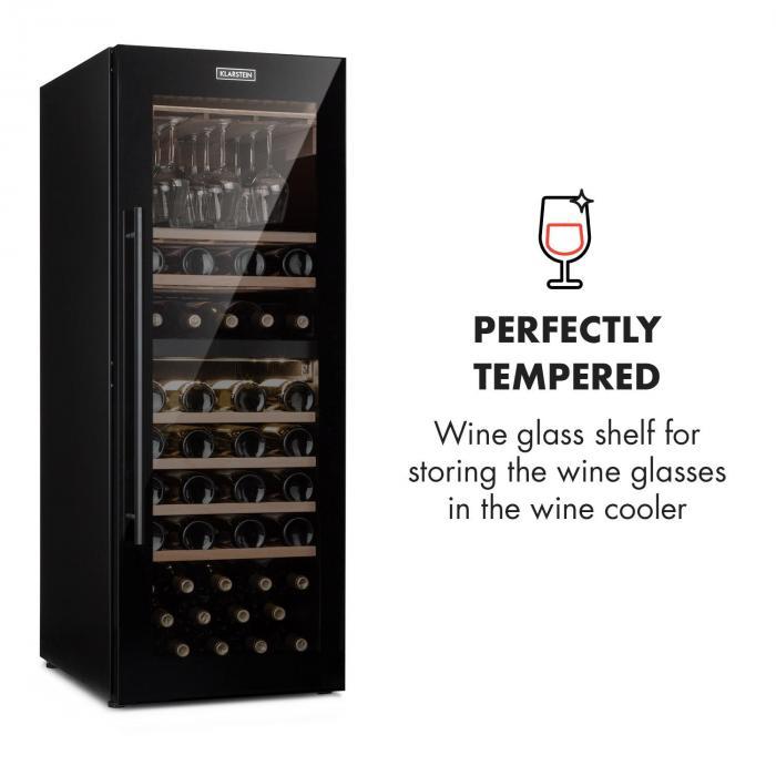 Barossa 77 Duo Wine Fridge Set 2 Zones 191L / 77 Bottles Wine Glass Shelf