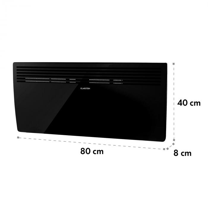Hot Spot Slimcurve Heater 80x40cm 40m² 2000W 5-40 ° C LED IP24 Black