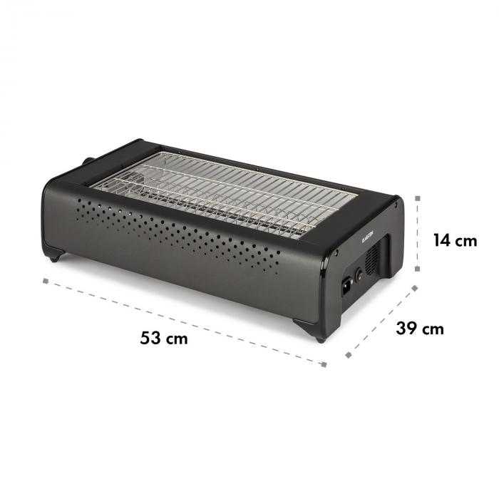 Infragrill sähkögrilli infrapuna 1500 W savuton musta