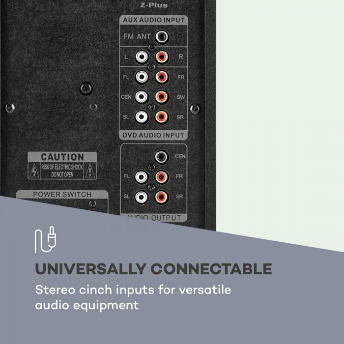 Z-Plus 5.1 Sistema di Altoparlanti 70 W RMS OneSide Subwoofer BT USB SD