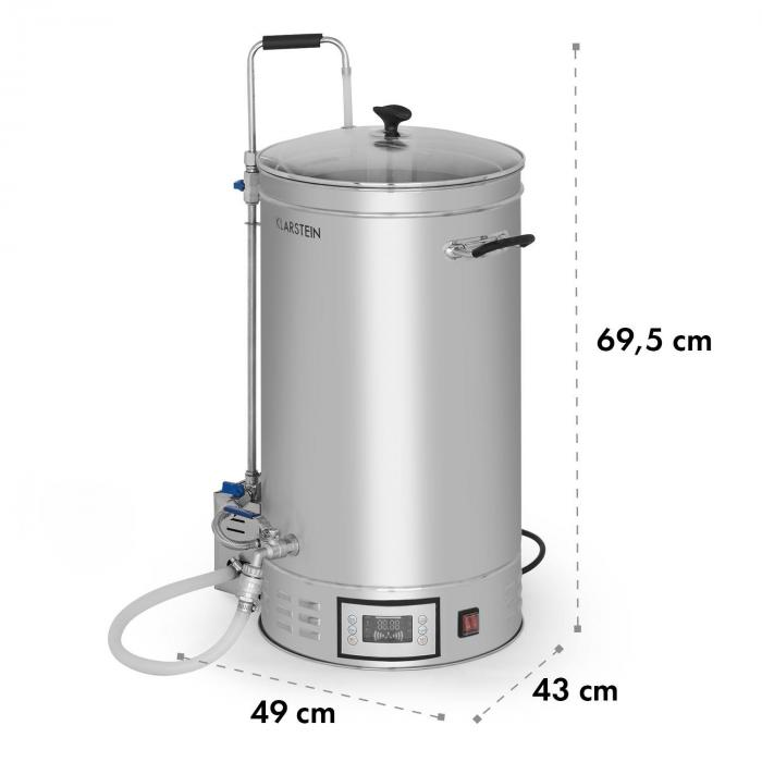 Brauheld 35 Maischekessel 35 Liter 30-140°C Umwälzpumpe Edelstahl