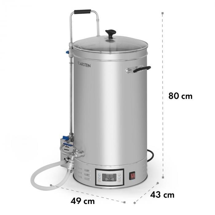 Brauheld Cuba de macerado 45 litros 30-140 ºC Bomba de circulación Acero inoxidable