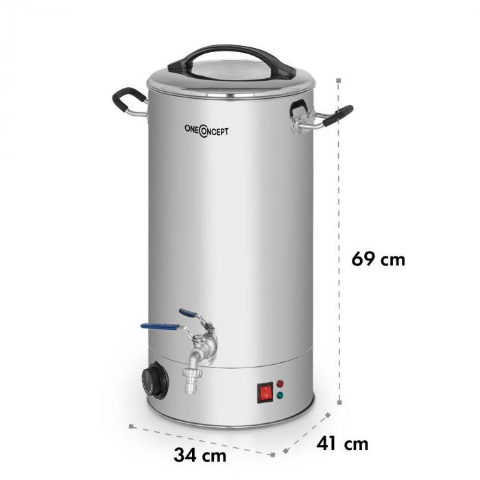 Braufreund 30 Fermentador de cerveza Tanque de maceración 30 L 30-110 °C Acero inoxidable