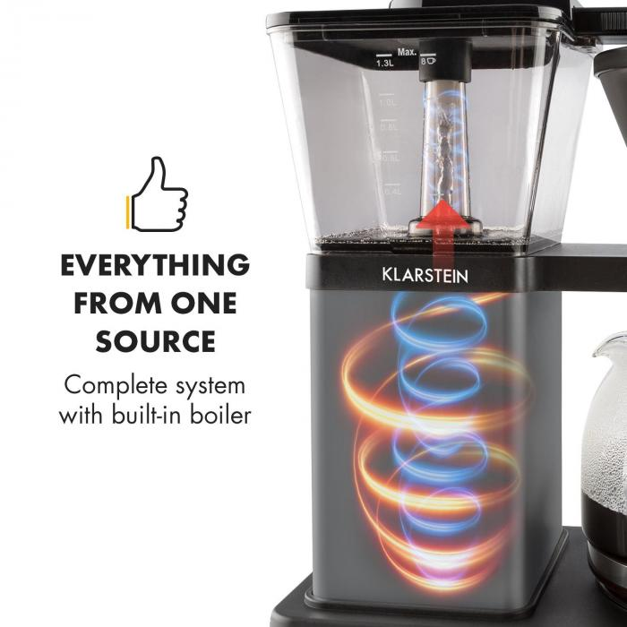 GrandeGusto kahvinkeitin 1690 W 1,3 l esihaudutus 96 °C musta
