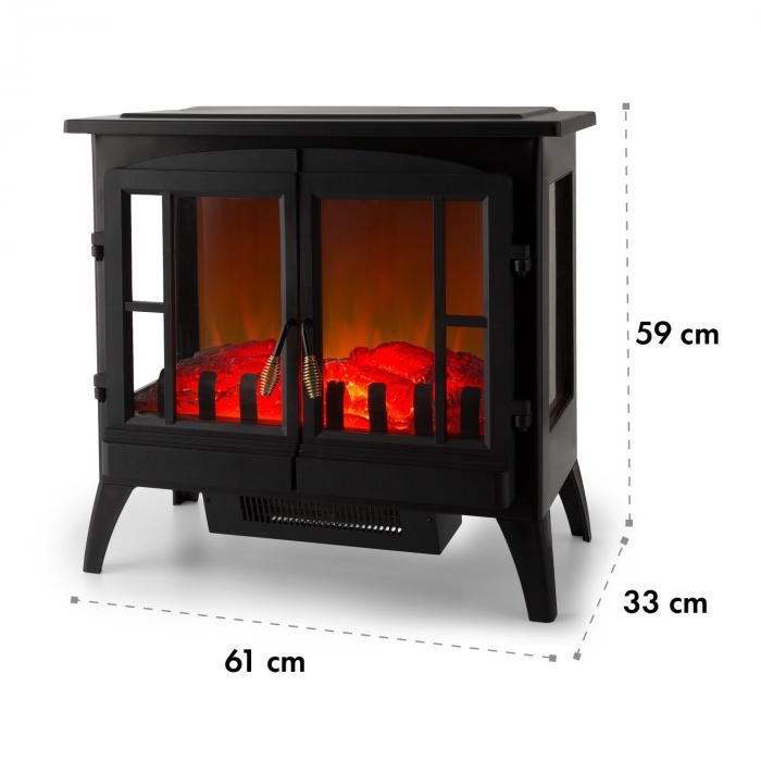Innsbruck Electric Fireplace 1000 / 2000W Thermostat Black