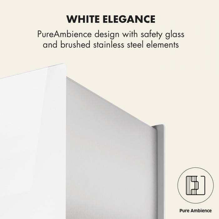 Kronleuchter L Inselabzugshaube 60cm Abluft: 590m³/h LED Touch Glas weiß