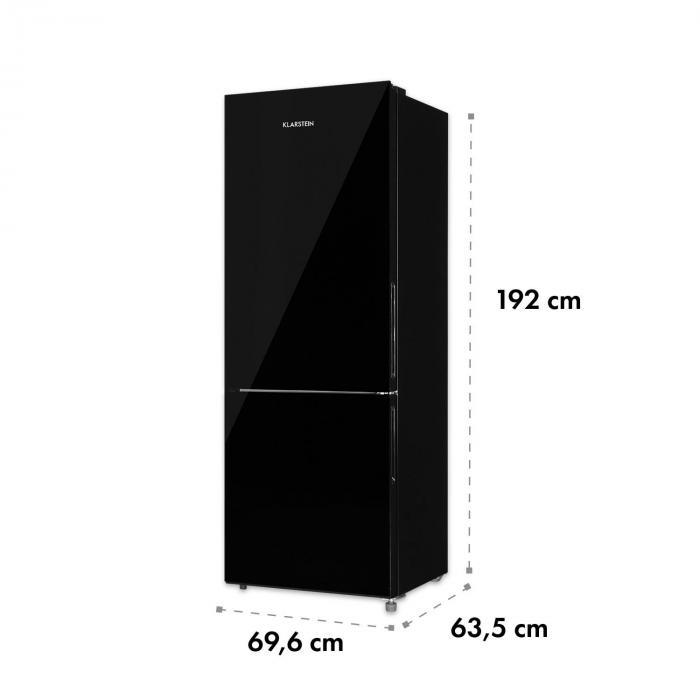 Luminance Frost Combinação de Frigorífico com Congelador 299/123 l A+ Porta de vidro preto