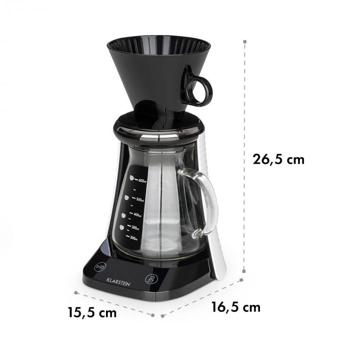 craft coffee Scale Timer Glass Jug Filter Attachment 600ml Black / White