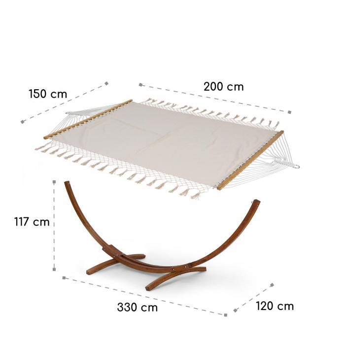 Bali TAS Swing -riippumatto lehtikuusi max. 160 kg kerma tupsut