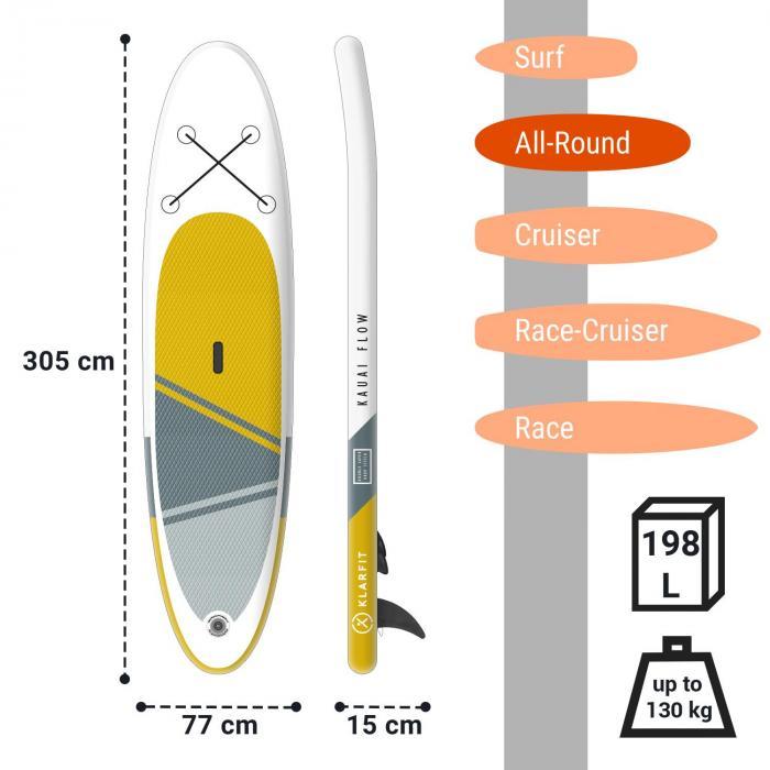 Kauai Flow puhallettava SUP-lautasetti DoubleLayer 305 x 10 x 77