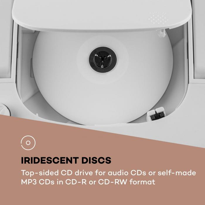 Roadie Smart Boombox Rádio Internet DAB/DAB+ UKW Leitor CD LED Wi-Fi Bluetooth