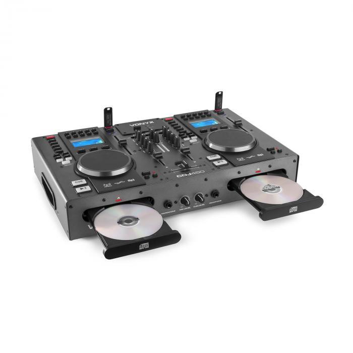CDJ450 DJ Workstation 2 CD Player BT 2 USB 2 Channel Mixer