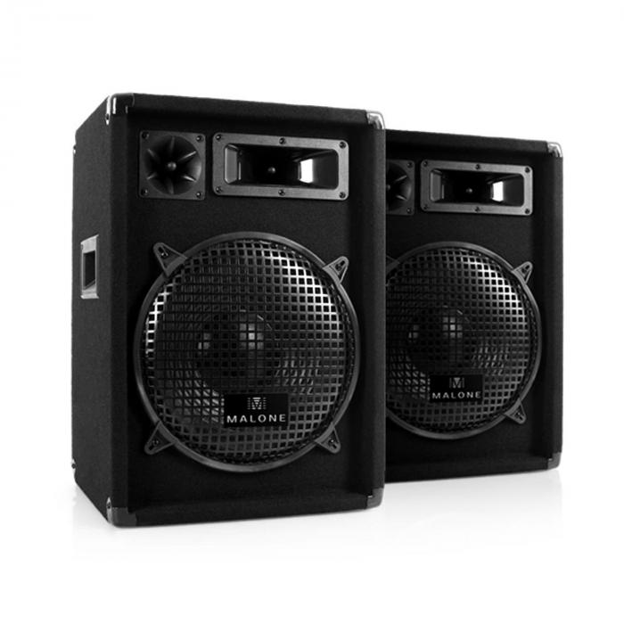 Professional DJ Equipment PA System. Speakers, Dual CD Player, Mixer & Mic Package