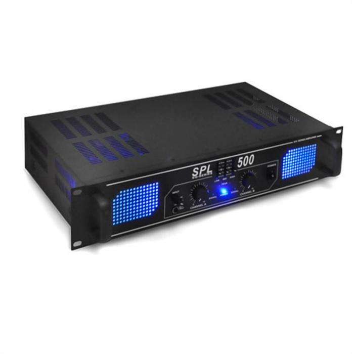 PA Set Blue Star Series 'Basskick' 1600W 1 Amplifier 2 Boxes