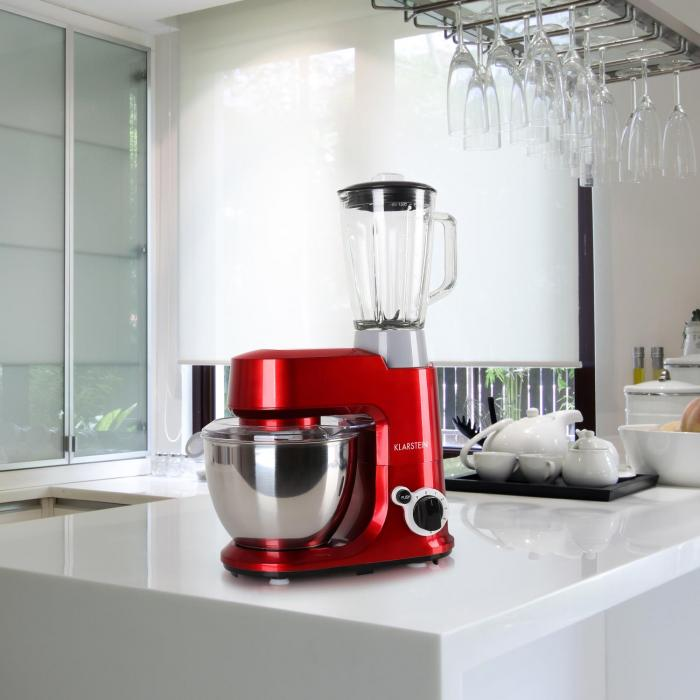 Carina Rossa Set 800W Küchenmaschine plus 1,5L Blender Krug