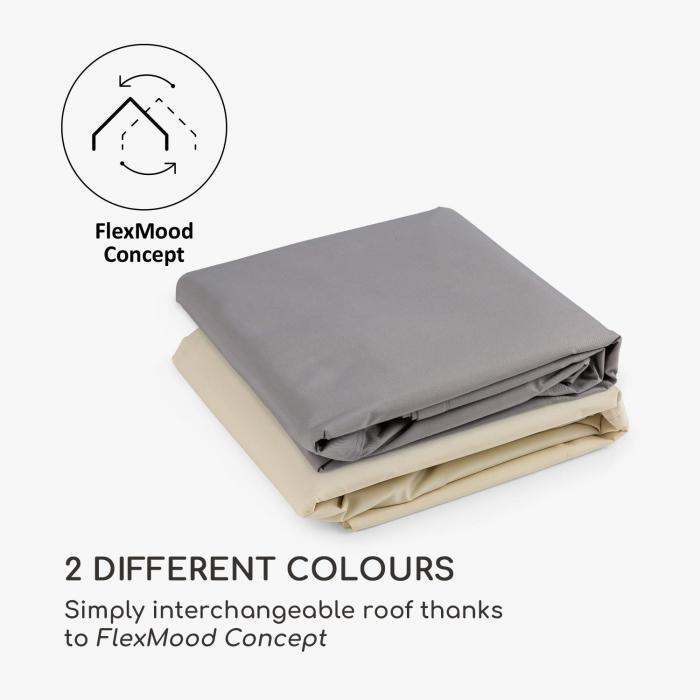 Sombra Pergola komplettset 4x4m polyester-tak beige