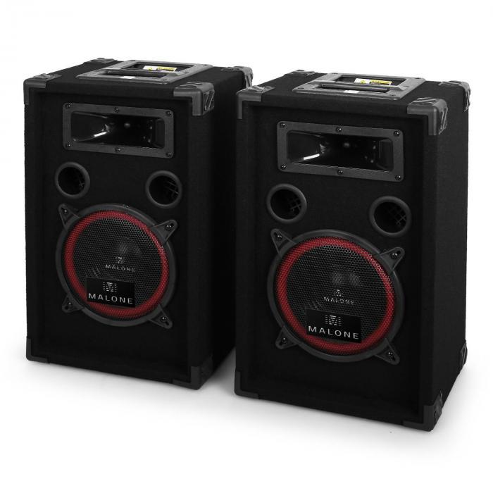 DJ12Set audio professionale 1ampli e 2casse 1000W