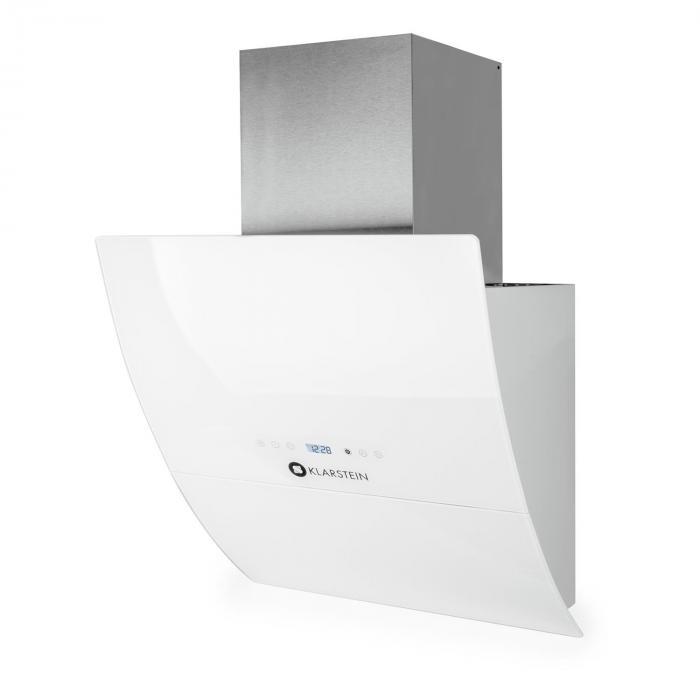 rgl60wh hotte aspirante murale inclin e 60cm 600m h en verre blanc blanc 60 electronic star fr. Black Bedroom Furniture Sets. Home Design Ideas