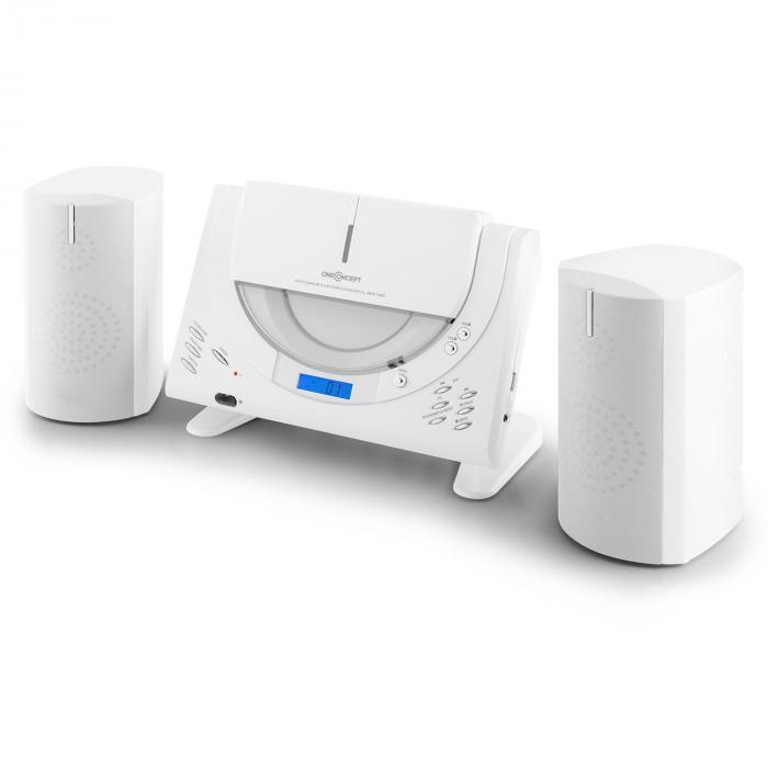 Vertical 80 stereolaitteisto CD USB MP3 AUX valkoinen