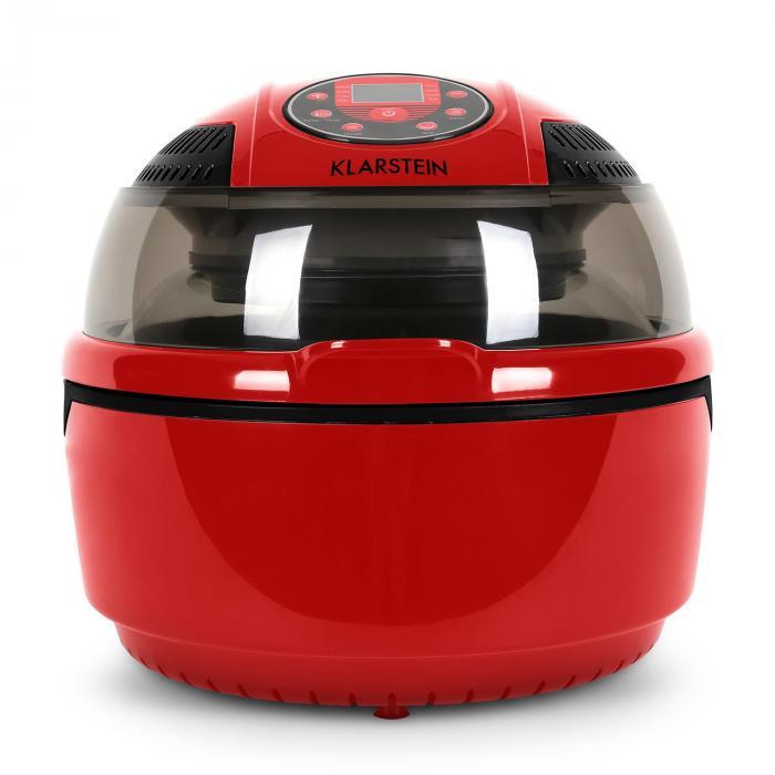 VitAir Varmluftsfritös 1400 W grillar bakar 9 liter röd