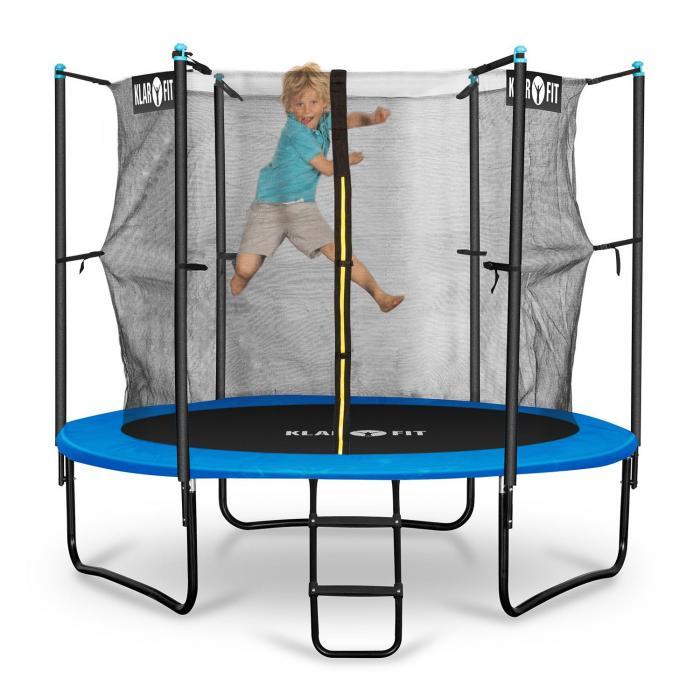 rocketboy 250 trampolin 250cm sicherheitsnetz innen breite leiter blau blau 250 cm online. Black Bedroom Furniture Sets. Home Design Ideas