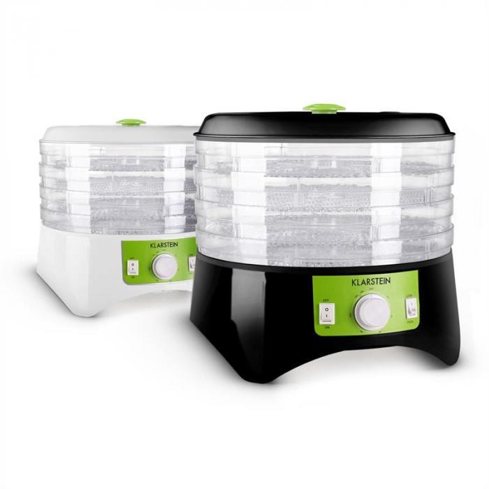 Appleberry Dörrgerät Dehydrator 400W 4 Etagen schwarz-grün BPA-frei