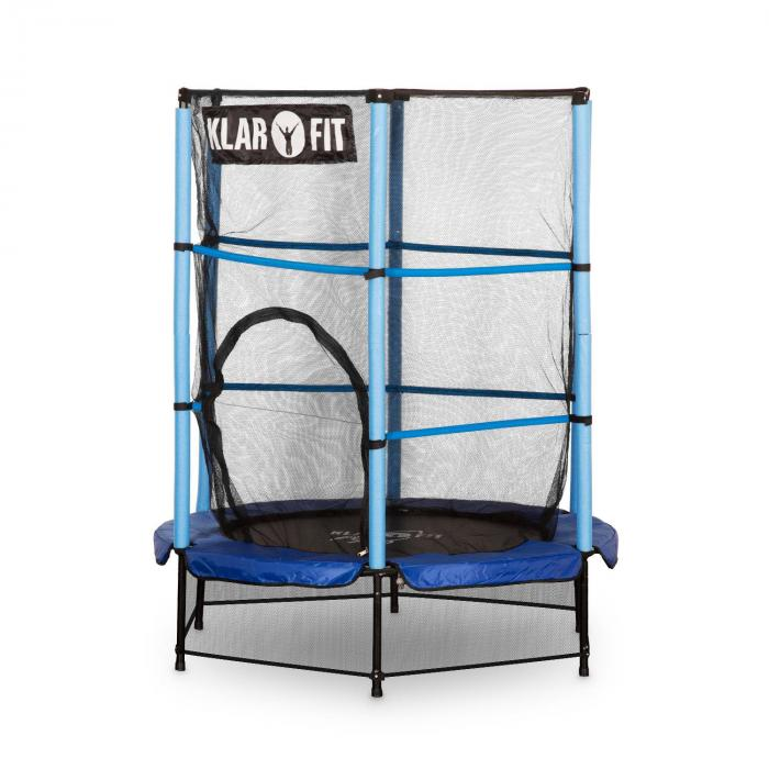 rocketkid trampoline 140cm filet de s curit bleu bleu electronic star fr. Black Bedroom Furniture Sets. Home Design Ideas
