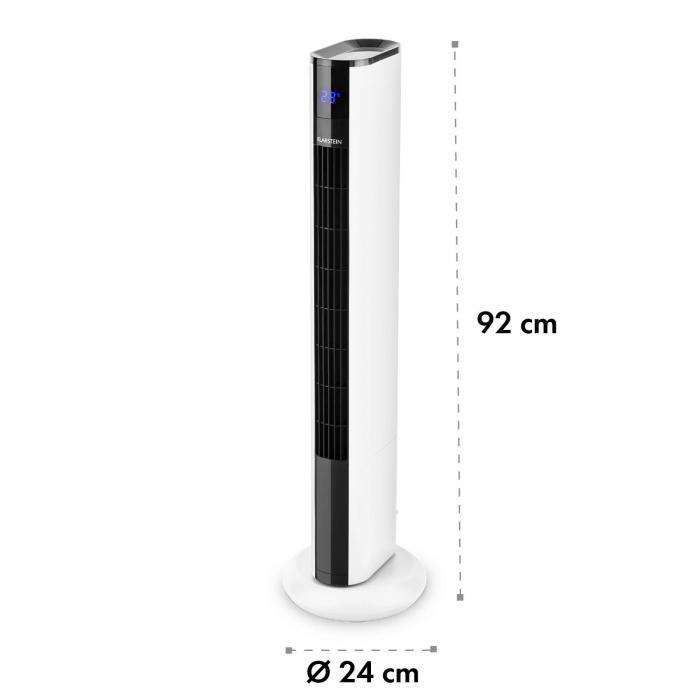 Skyscraper 3G wentylator kolumnowy panel dotykowy pilot zdalnej obsługi biały