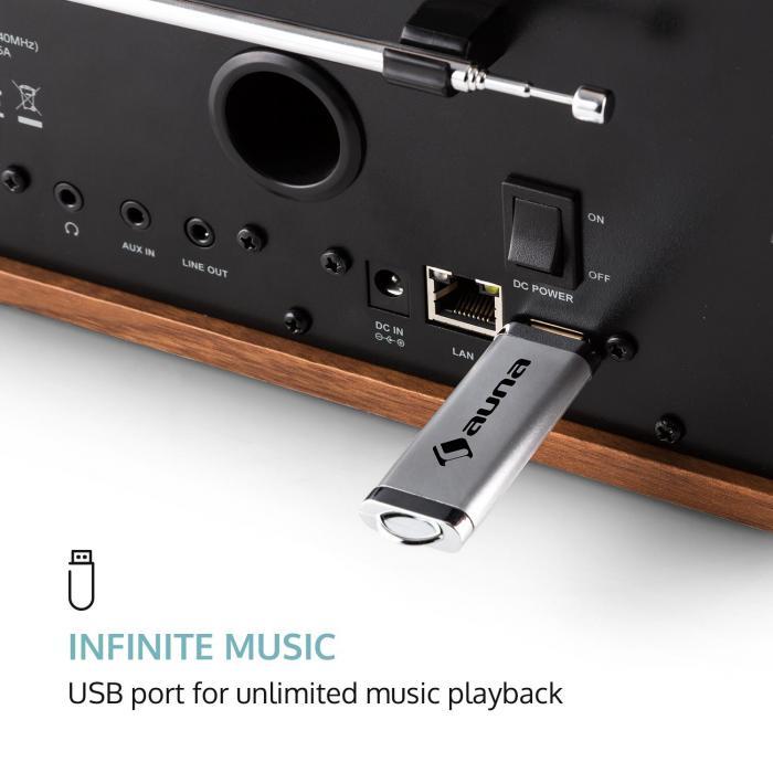 Connect 150 BK 2.1 Internet Radio Lettore USB WLAN DAB + FM RDS Spotify noc