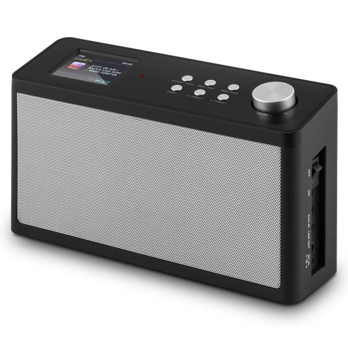 "KR-200 Base Kitchen Radio Internetradio Spotify Connect 2.4"" colour Display WiFi DAB+ FM Alarm"