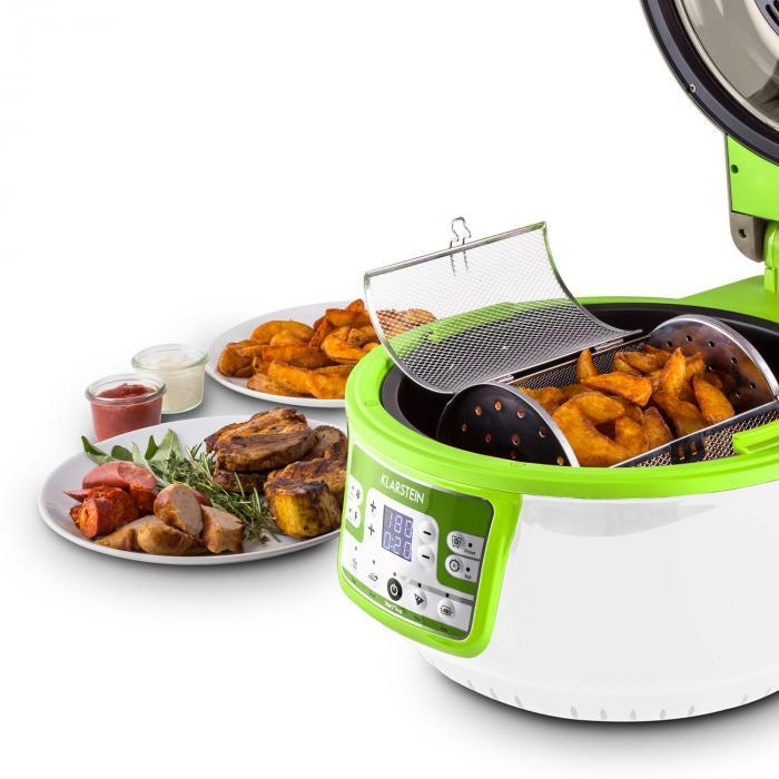 VitAir Turbo friteerauskeitin vihreä-valkoinen 1400 w grillaus paisto 9 l