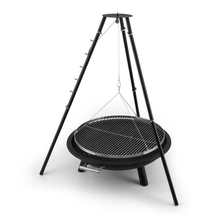 arco trino swivel grill fire pit bbq tripod stainless steel