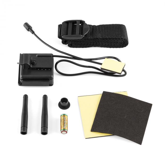 Black Flash Fotografico Ad Infrarossi 128 x LED Neri IPX 5 Con Cinghietto