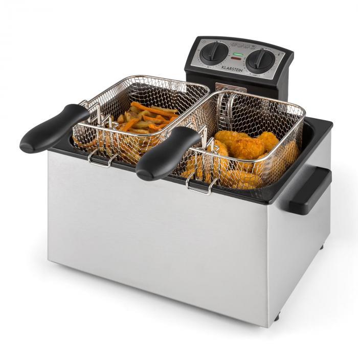 QuickPro XXL 3000 Fritteuse 5l 1,5kg 3000W Timer Edelstahl
