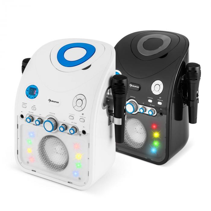 StarMaker Karaoke Lettore CD Bluetooth AUX Effetti Luce LED 2 x Microfoni