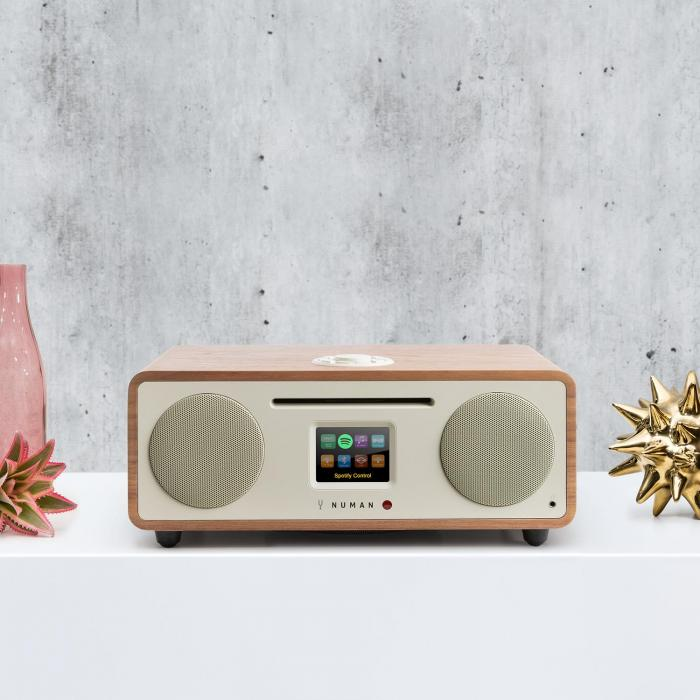 Two – 2.1 Radio internetowe CD 30W Bluetooth Spotify Connect DAB+ orzech