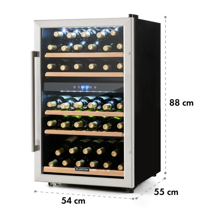 Vinamour 40D wine refrigerator 2 zones 135 L 41 bottles stainless steel front