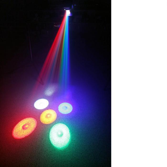 scan200st projecteur lumi re couleur scanner 36w 5x 3w dmx. Black Bedroom Furniture Sets. Home Design Ideas