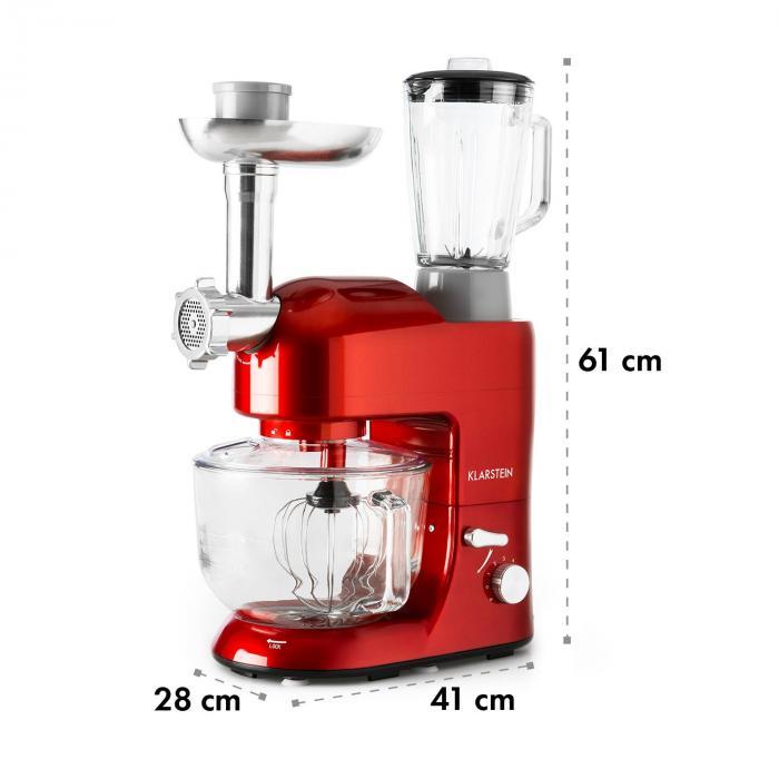 Lucia Rossa 2G Robot da Cucina Mixer Tritacarne 1200W senza BPA
