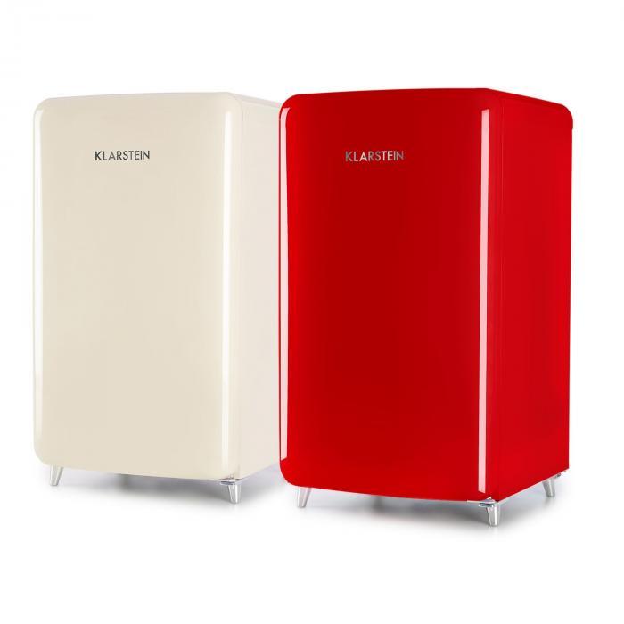 PopArt-Bar punainen jääkaappi 136l retromuotoilu 3 tasoa vihanneslokero A+